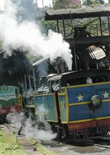 Steam locomotive at Coonoor