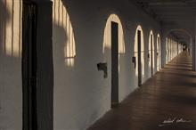 Walking the corridor at Cellular Jail
