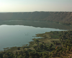 Lonar where a meteor hit the earth 50,000 years ago