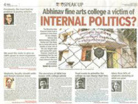 Abhinav fine arts college a victim of internal politics DNA