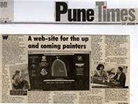 A website for the up and coming painters Pune Times